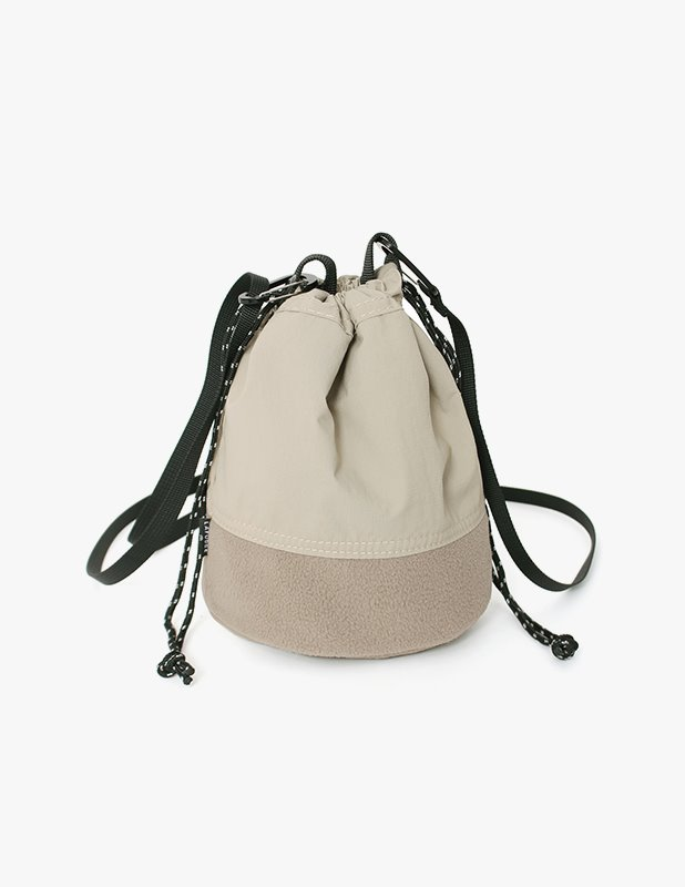 Fleece Mini BucketBag_Sand Beige