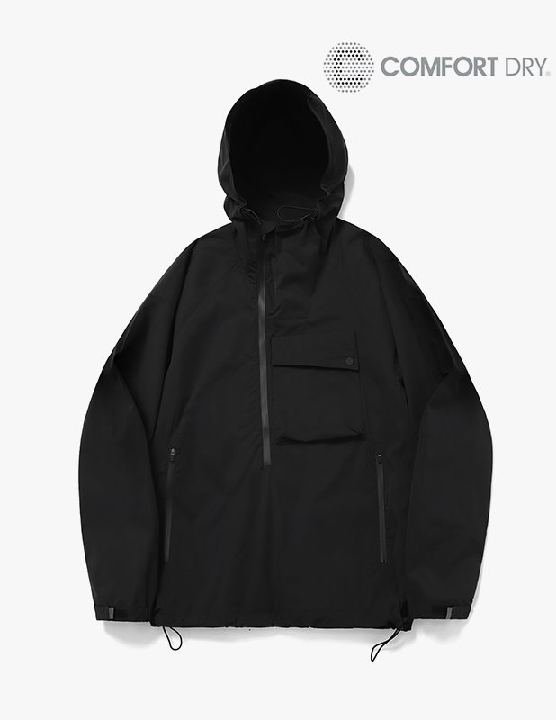 Ordinary Comfort Oblique Anorak Shirt_Black
