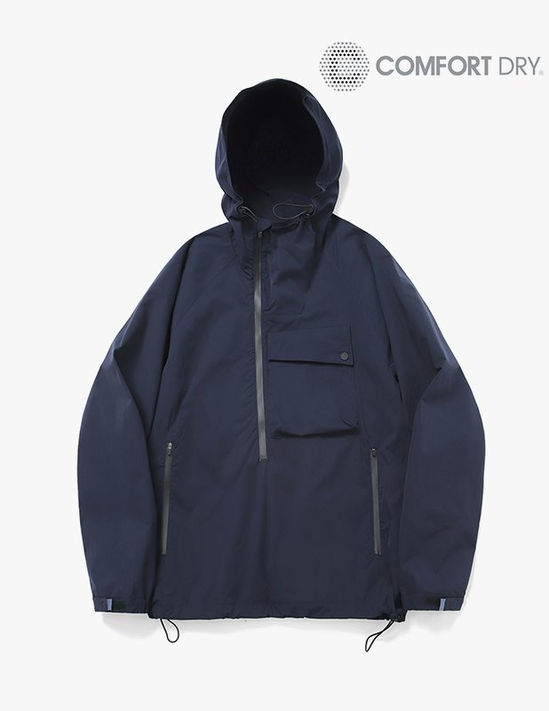 Ordinary Comfort Oblique Anorak Shirt_MidNight Blue