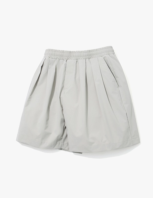 Ordinary Comfort Wide Two Tuck Shorts_Sand Gray