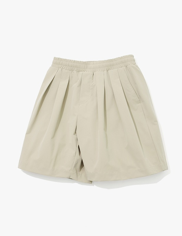 Ordinary Comfort Wide Two Tuck Shorts_Smoke Beige
