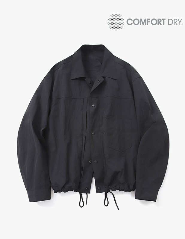 Ordinary Comfort Trucker Shirt Jacket_Black