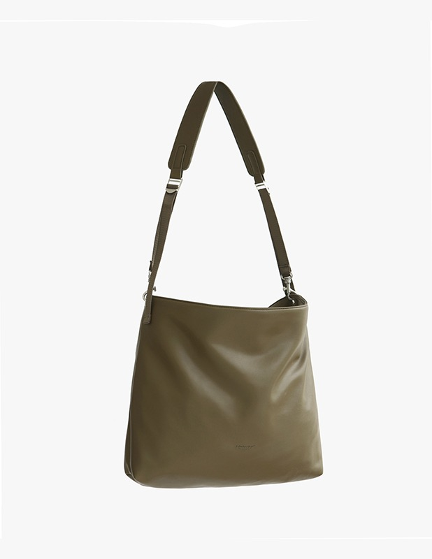 [5/14 예약발송]Buffing Leather Utility Shopper Bag_Olive Khaki