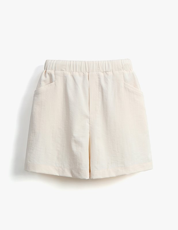 [Woman]Brimfulf Wide Banding Shorts_Cream