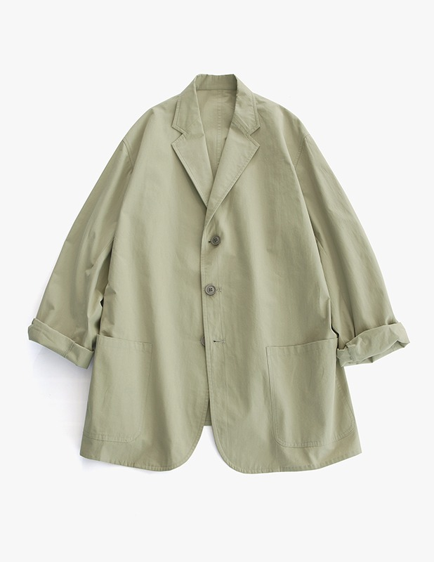 [여름원단]Classic Uncon Over Blazer_Light Khaki