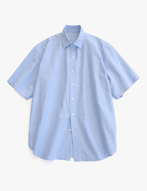 [5/14 예약발송]City Boy Big Over Oxford 1/2 Shirt_Sky Blue