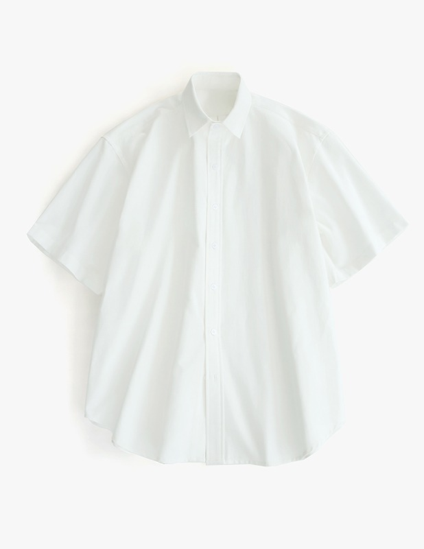[5/14 예약발송]City Boy Big Over Oxford 1/2 Shirt_White