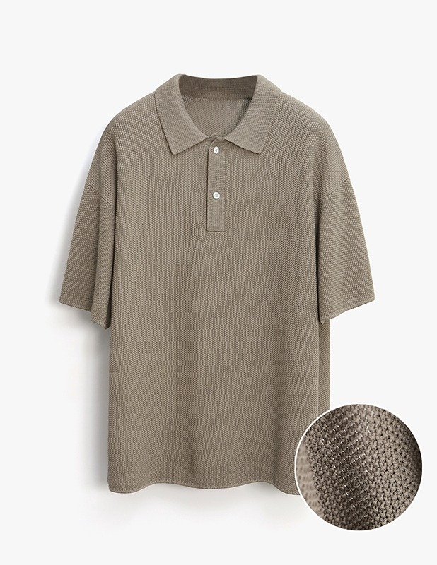 [5/14 예약발송]Skashi Ove Polo Knit_Mocha Brown