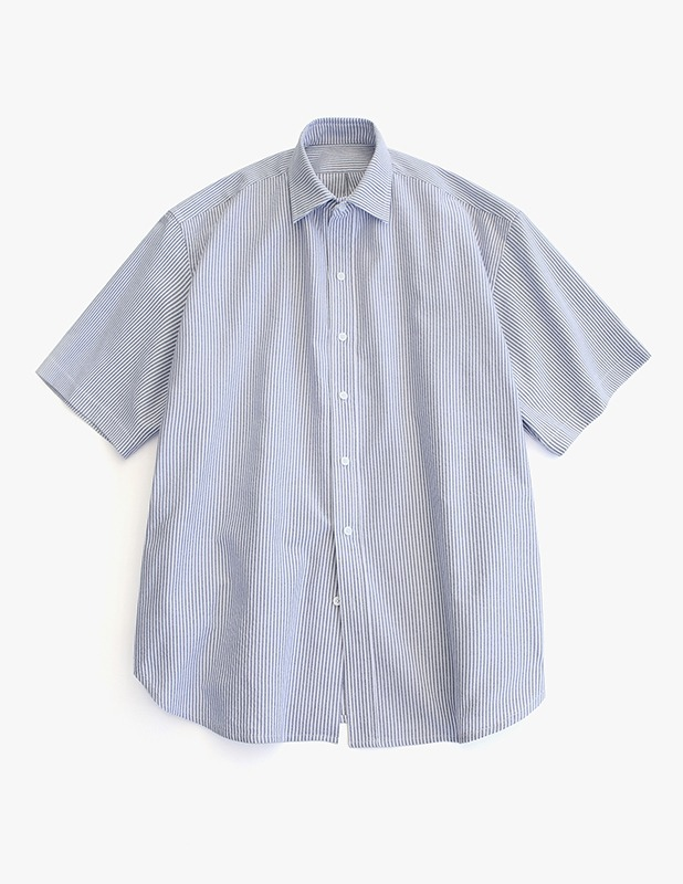 [5/14 예약발송]City Boy Big Over Oxford 1/2 Shirt_Navy Stripe