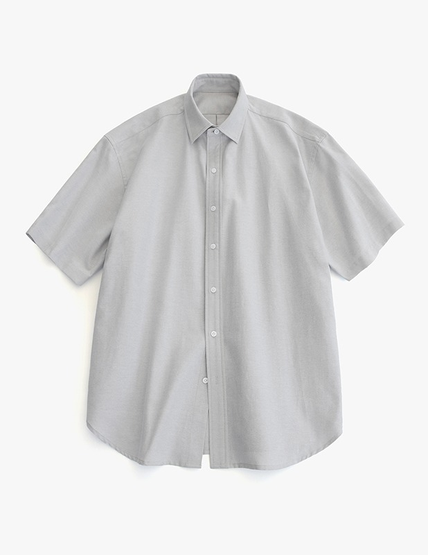 [5/14 예약발송]City Boy Big Over Oxford 1/2 Shirt_Ash Gray