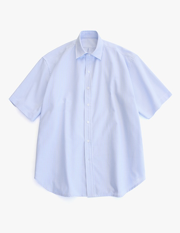 [5/14 예약발송]City Boy Big Over Oxford 1/2 Shirt_Sky Blue Stripe
