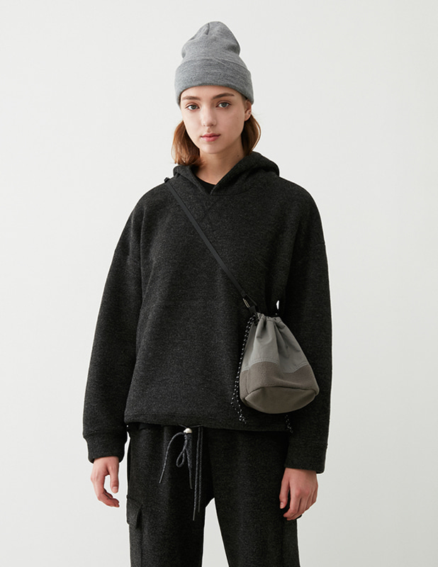 Fleece Mini BucketBag_Washed Gray