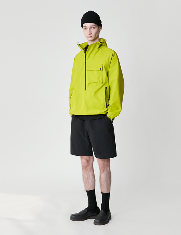 Ordinary Comfort Oblique Anorak Shirt_Neon Lime