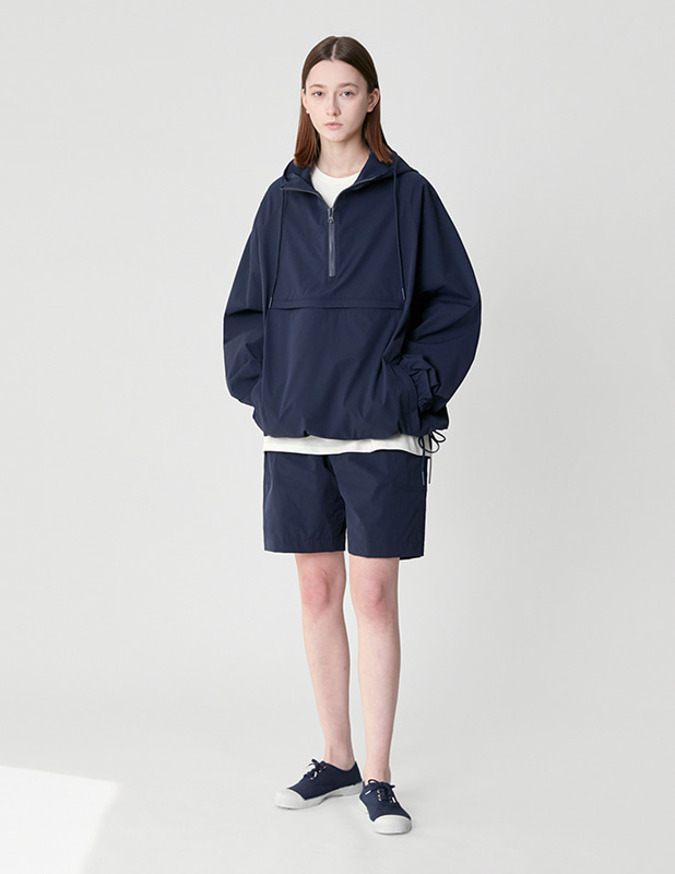 Ordinary Comfort  Half Open Over Anorak Hood_MidNight Blue