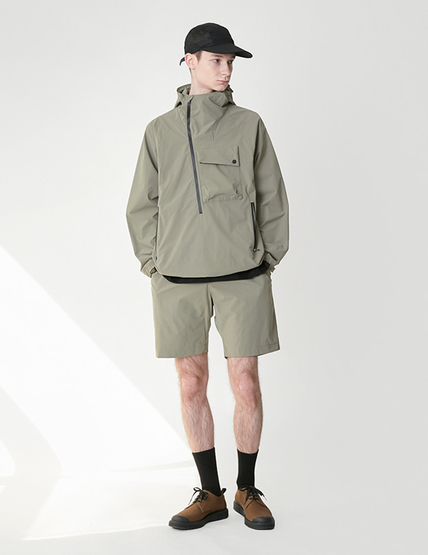 Ordinary Comfort Oblique Anorak Shirt_Martine Olive