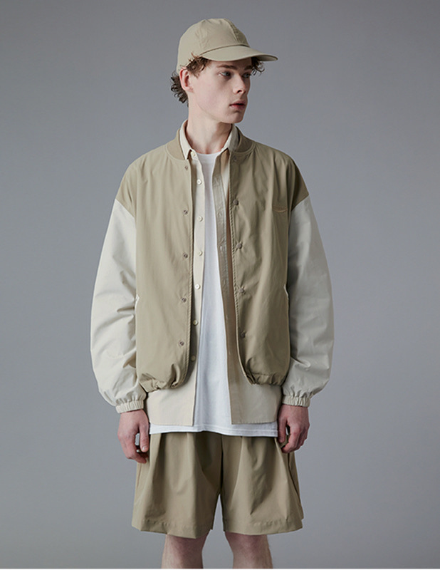 Ordinary Comfort  Stadium Jacket_Smoke Beige