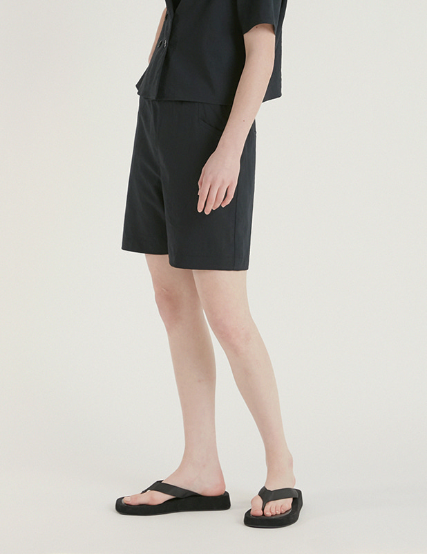 [Woman]Brimfulf Wide Banding Shorts_MidNight Blue