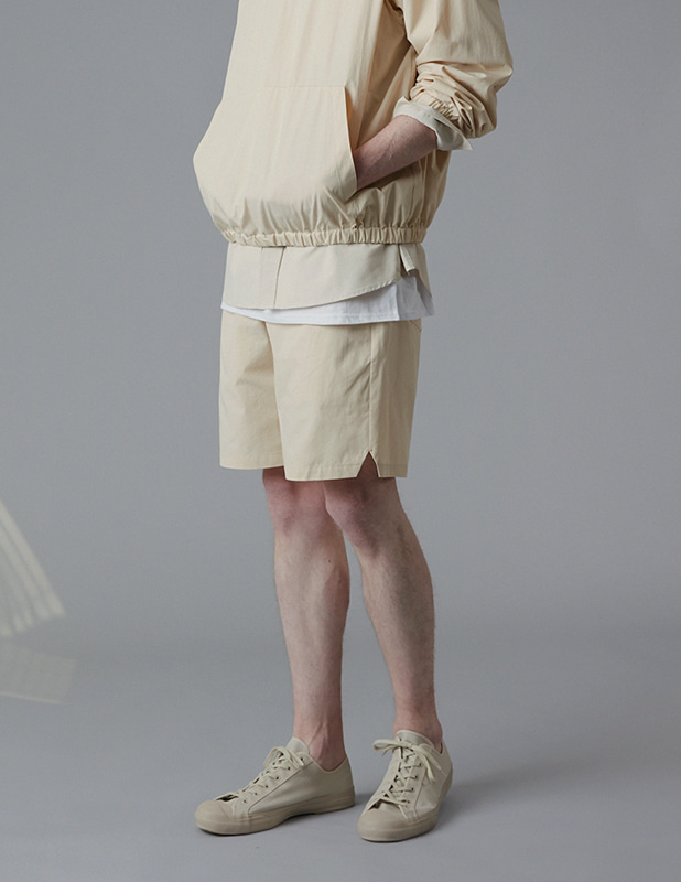 Sanding Oxford Essential Colorway Shorts_Linen Beige