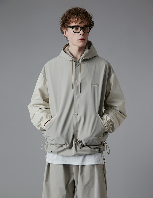 Ordinary Comfort  Stadium Jacket_Neutral Gray