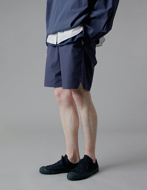 Sanding Oxford Essential Colorway Shorts_Light Navy